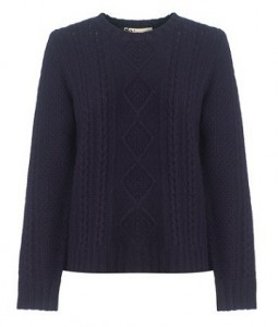 Boutique by Jaeger Aran wool jumper