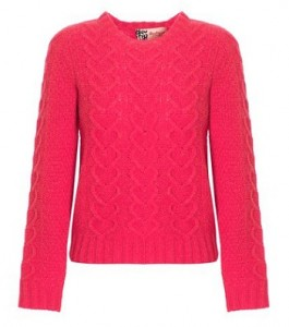 Boutique by Jaeger heart wool cable knit jumper