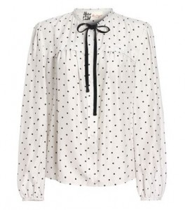 Boutique by Jaeger silk blend polka dot blouse