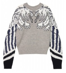 Carven gargoyle print jumper