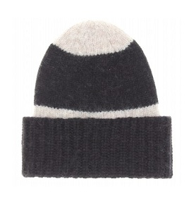 Closed stripe knit hat