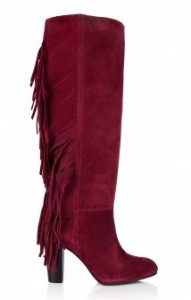 Diane von Furstenberg cranberry penn suede boots