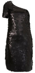 Dress Up Topshop big sequin one shoulder dress