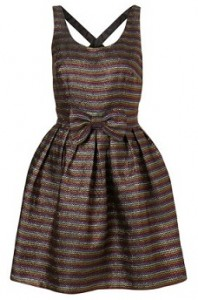 Dress Up Topshop rainbow cross back dress