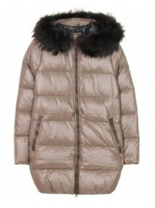 Duvetica Kappa down coat with fur-trimmed hood