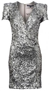 French Connection silver Samantha sequin dress