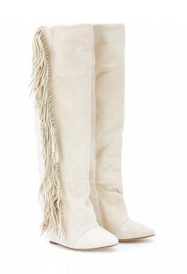 Isabel Marant manly suede and leather fringed boots