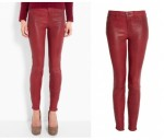 J Brand oxblood leather legging