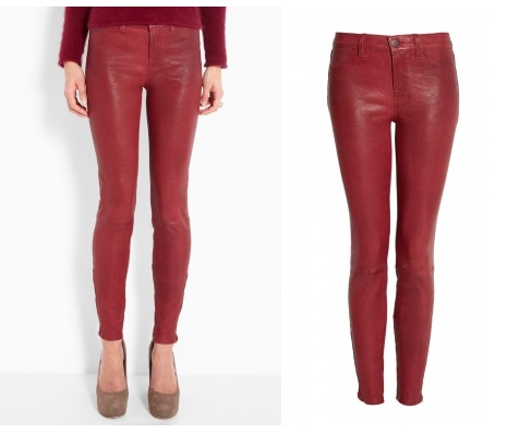 Lunchtime buy: J Brand Oxblood red leather legging