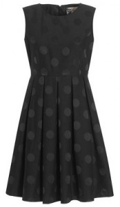 Jaeger Boutique jacquard spot prom dress