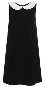 Jaeger Boutique velvet dress with silk collar