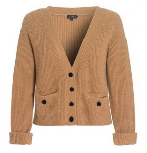 Jaeger camel hair short rib jumper