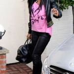 Kelly Rowland shows off her Versace for H&M