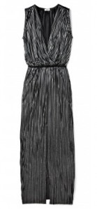L'Agence black lurex goddess gown