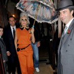 Lady Gaga wears Georgia Hardinge (and a Little Mermaid parasol) in London