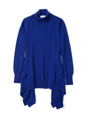 Madeleine Thompson asymmetric cashmere roll neck jumper