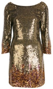 Miss Selfridge all-over sequin dress
