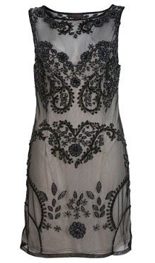 Miss Selfridge black embellished dress