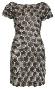 Miss Selfridge honeycomb sequin dress