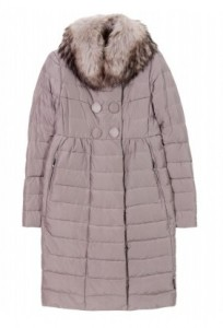 Moncler Johafur fur-trimmed quilted down coat