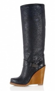 Mulberry midnight blue Tillie boot