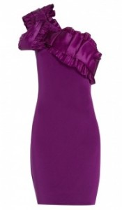 Notte by Marchesa one shoulder silk crepe dress