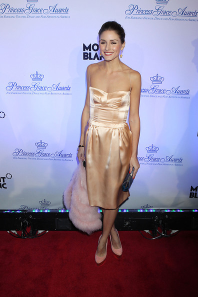 Shock, gasp! Olivia Palermo does peach overkill at Princess Grace Awards