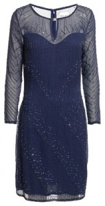 Reiss Antonella bead embellished long sleeved dress