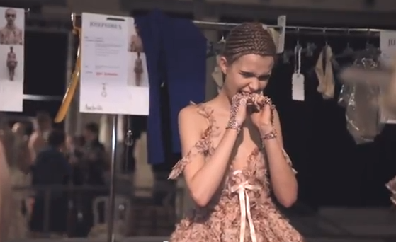 Behind the scenes at Alexander McQueen's SS12 show