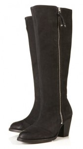 Topshop Cool high leg zip side boots