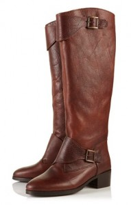 Topshop Deer buckle cuff high leg boots
