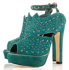 Topshop Poser studded platform sandals