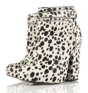 Topshop Unique Dalmatian print boots