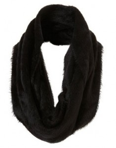 Topshop black fluffy snood