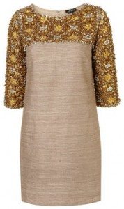 Topshop embellished bodice dress