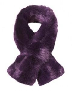 Topshop faux fur tuck stole