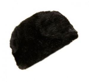 Topshop glossy faux fur cossack hat