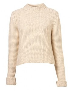 Topshop knitted fishermans crop jumper by boutique