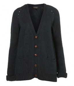 Topshop knitted raglan boyfriend cardigan