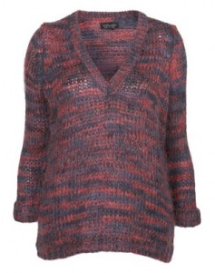 Topshop knitted stitch v neck jumper