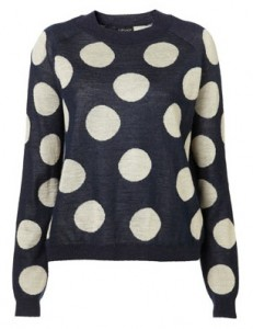 Topshop large spot jumper