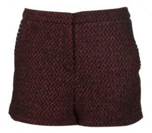 Topshop lurex boucle shorts