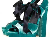 Topshop luxury velvet sandals