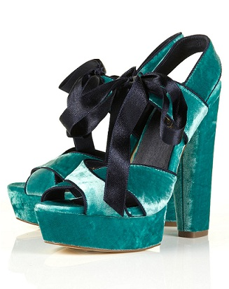 Lunchtime buy: Topshop luxury velvet platform sandals
