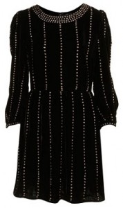 Topshop silk stud velvet dress