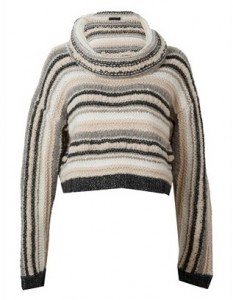 Torn Georgie cowl neck sweater