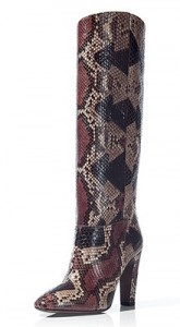Valentino multi colour snake boot