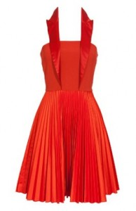 Versus red pleated dress