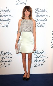 alexa chung british fashion awards 2011