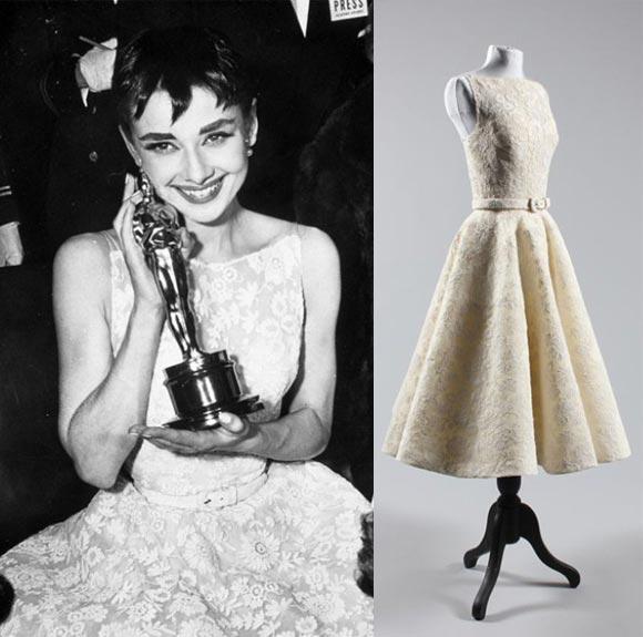 audrey hepburn oscars dress auctioned